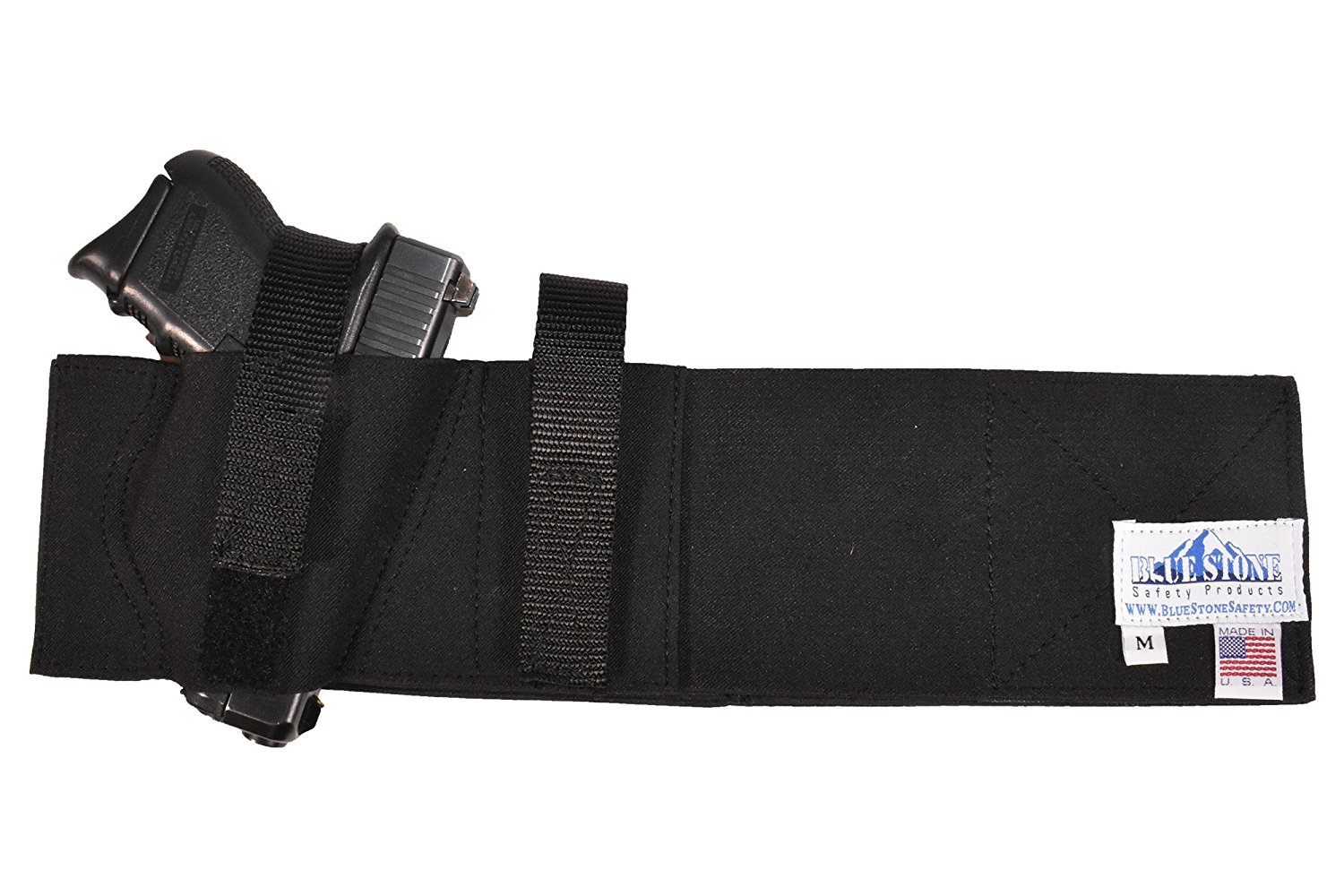 Concealed Carry Belly Band Holster| Belly Band Gun Holster| Belly Band Holster|Fits Glock 17, Glock 19, Glock 21, Glock 22, Glock 23, Glock 26, Glock 27, Glock 42, Glock 43, and Smaller Glock Models, S&W Shield, S&W M&P, and Similar sized Handguns, Sig Sauer, p220, p226, p228, p229, p239, p250,