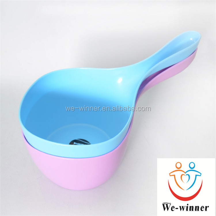 Practical candy color kitchen plastic water scoop