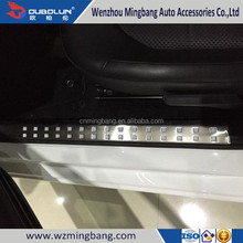 Stainless Steel Blue/red/black/sliver Scuff Plate/Door Sills Plate For 2014 Rapid Spaceback Skoda