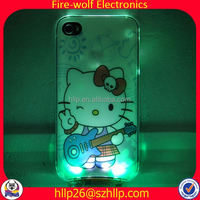 ON/OFF with battery two piece designed cell phone case LED two piece designed cell phone case Manufacturer
