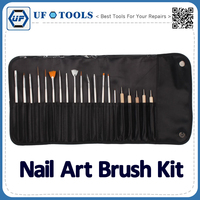 20 in1 High Quality Professional Nail Art Brush Tool Kit, Beauty Nail Brushes Styling Tool Set
