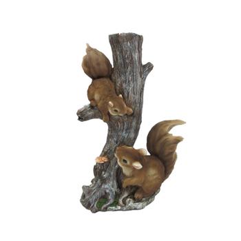Popular Handmade Resin Squirrel Garden Statues Polyresin Squirrel