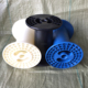 Plastic bobbin for super enamelled aluminium wire