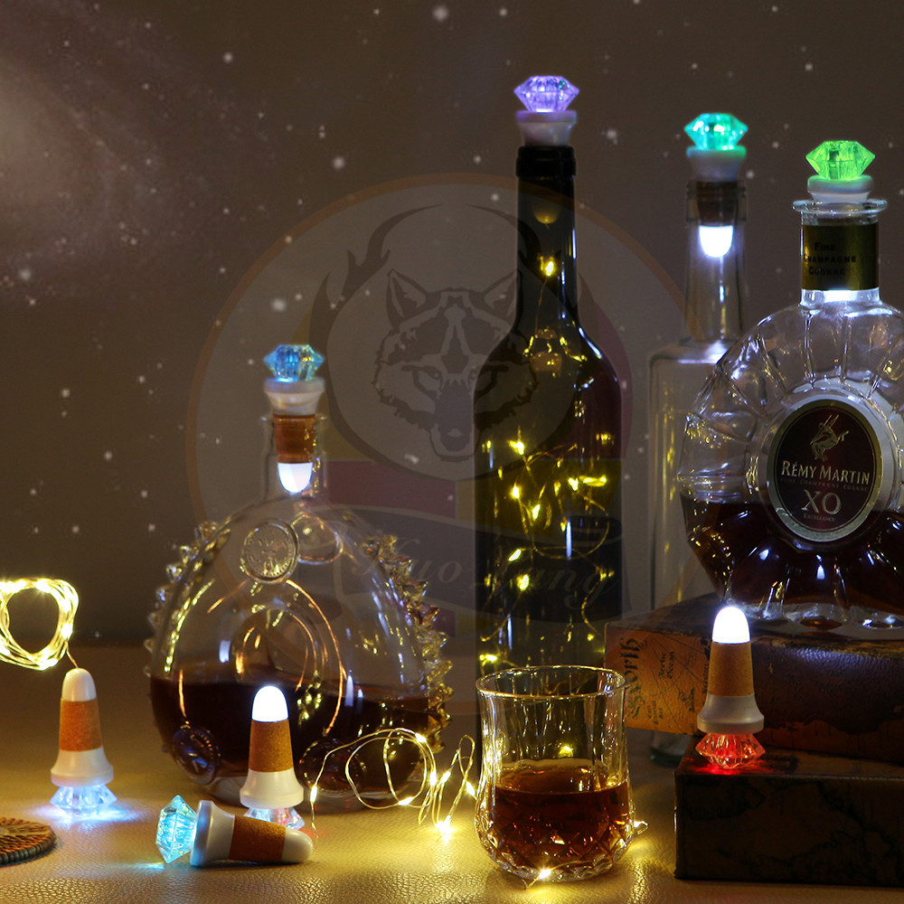 Rechargeable USB LED Wine Bottle Light for Christmas Decoration 2017 Manufacturer China LED Flashing Bottle Light With Copper