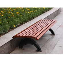 Aalu production wooden bench cast iron bench