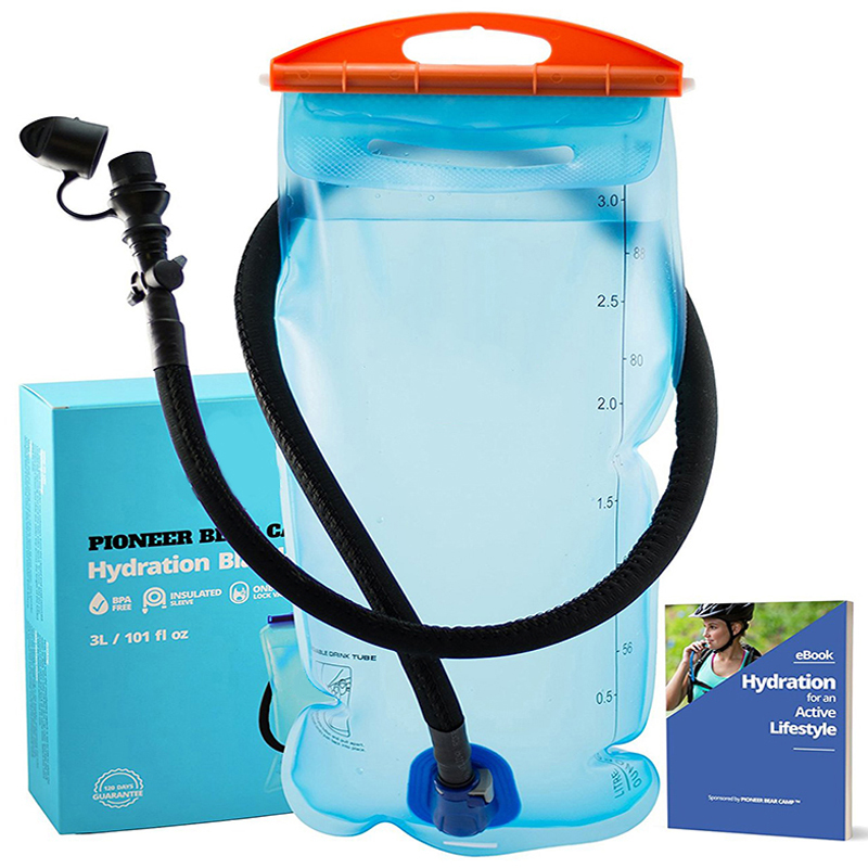PEVA platypus hydration pack 1 liter hydration reservoir