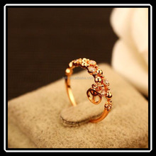 Europe and the United States Jewelry Anti-war Love Peace Sign Golden Rings For Women
