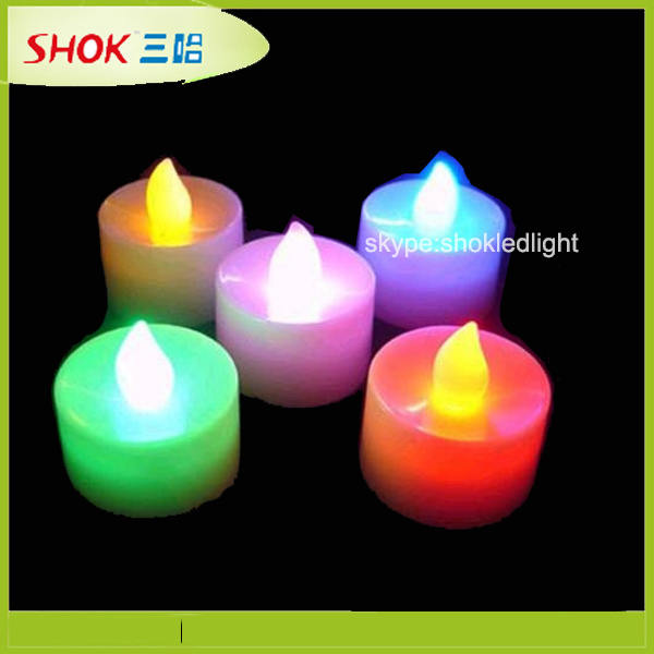 Hot sales different color LED candle ,led tealight candles