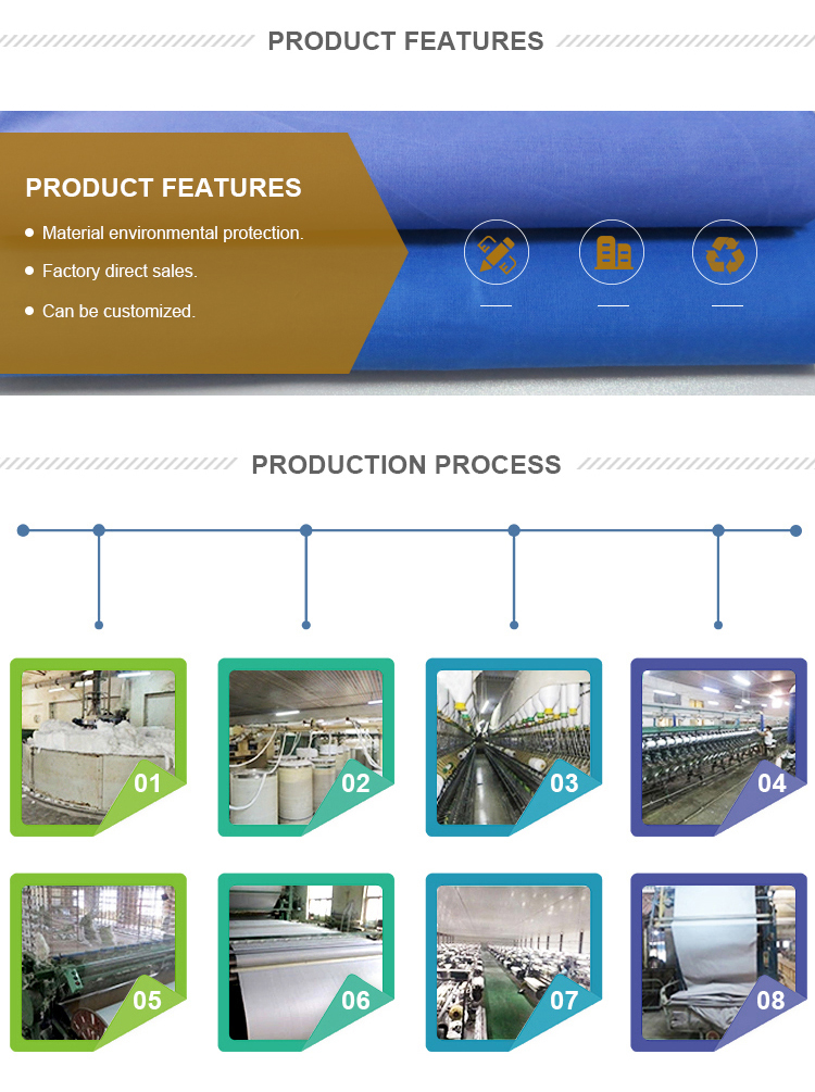 סין מפעל נחמד באיכות אחיד חאקי polycotton רגיל 65/35 כותנה פוליאסטר בד