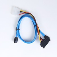 factory supply 50cm bare copper sata IDE 29pin to 7+4pin power sata cable for sas