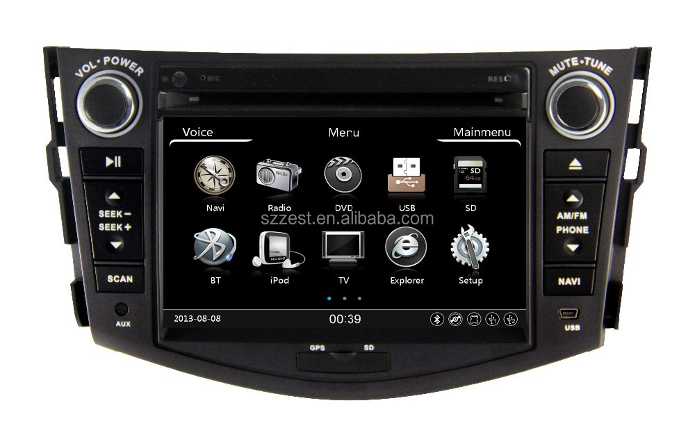car dvd player for Toyota RAV4 gps/radio/video/3G/A8 chipset/1080P ZT-T701