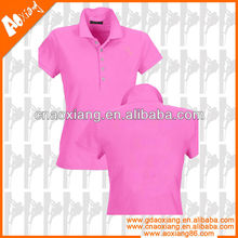 JP0015 Pink cotton polo shirt for Women