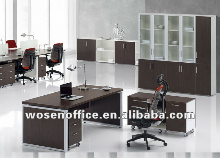 Moderno escritorio de oficina de melamina mesas de madera for Escritorio de oficina precio