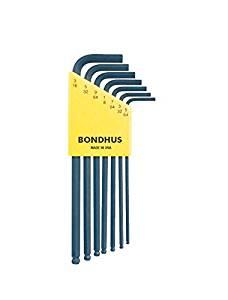 Bondhus 10945 Set of 7 Balldriver« L-wrenches, sizes 5/64-3/16-Inch
