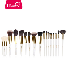 MSQ 18pcs new style make up brush set with goat hair professional makeup brushes