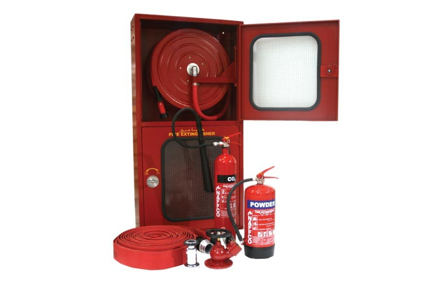 Fire Hose Reel Cabinet With Two Side Opening Door - Buy Fire ...