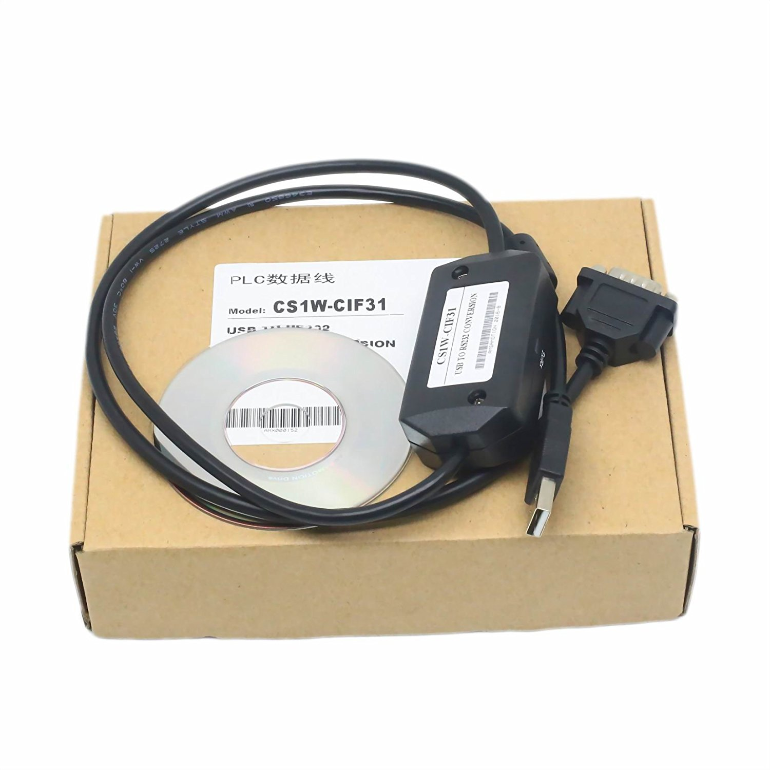 Cj Cs1w-cn226 Pc-cn226 Cs1w Cn226 Rs232 Adapter Programming Cable For Omron Cs Cqm1h And Cpm 2c Plc