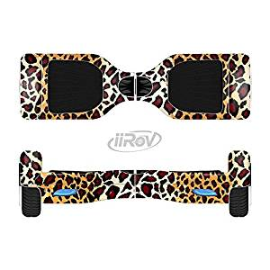 The Vector Brown Leopard Print Full-Body Wrap Skin Kit for the iiRov HoverBoards and other Scooter (HOVERBOARD NOT INCLUDED)