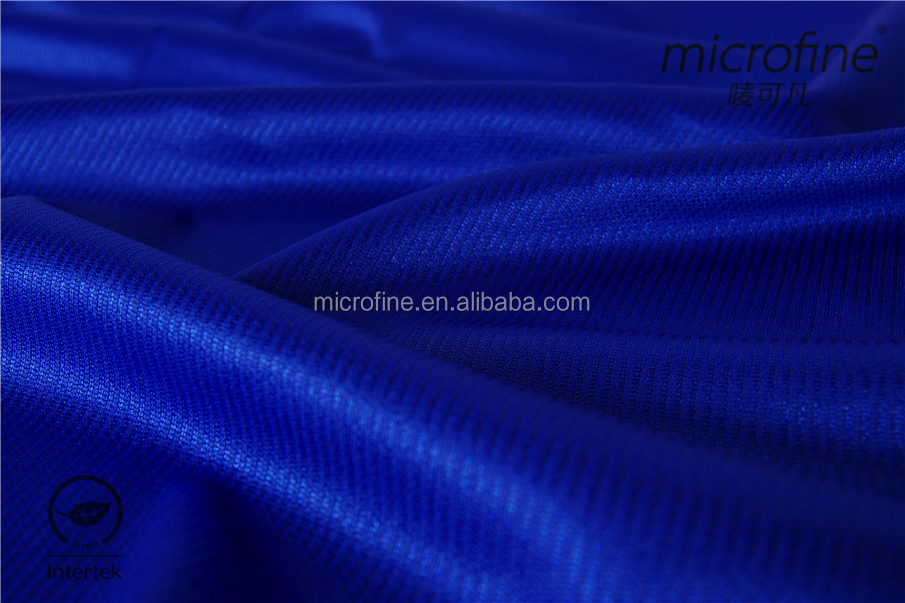 nice 100% polyester weft knitting shinny fabric with stripe