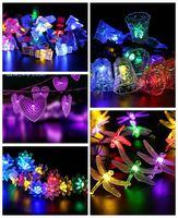 200leds Street Garden Outdoor Decorative Light Diwali Solar Micro ...