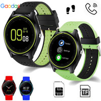 Gaodas Smart Watch V9 with Camera Bluetooth WristWatch SIM Card Smartwatch for Android Phone Wearable Devices pk dz09 gt08 A1