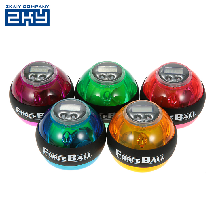 100% True Trainer Relax Gyroscope Ball High Quality Wrist Muscle Power Ball Gyro Arm Exerciser Strengthener Led Fitness Equipments New Varieties Are Introduced One After Another Fitness Equipments