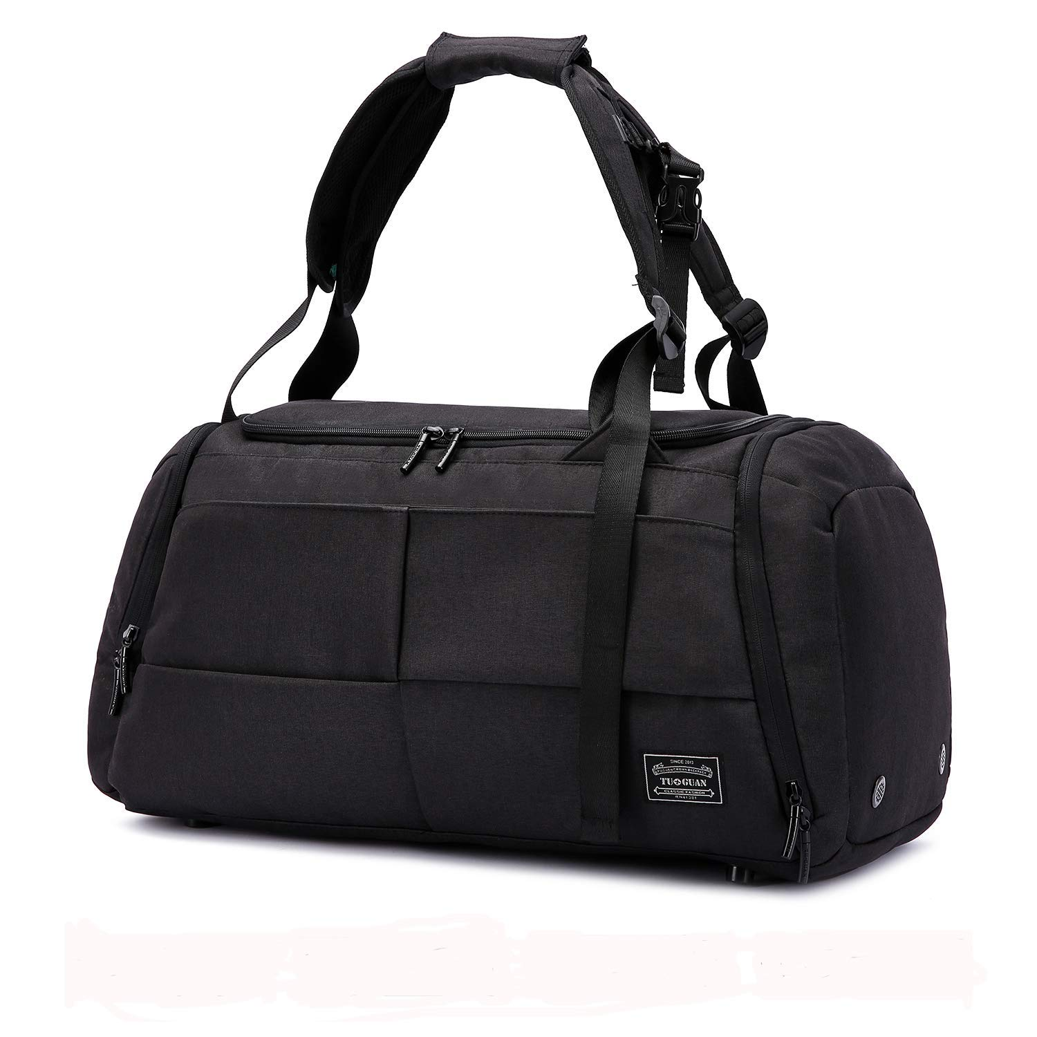 Sports Gym Bag 3 Way Duffel Backpack Overnight Weekender Tote with Shoes Pouch Carry on Bag for Workout, Travel, Camping
