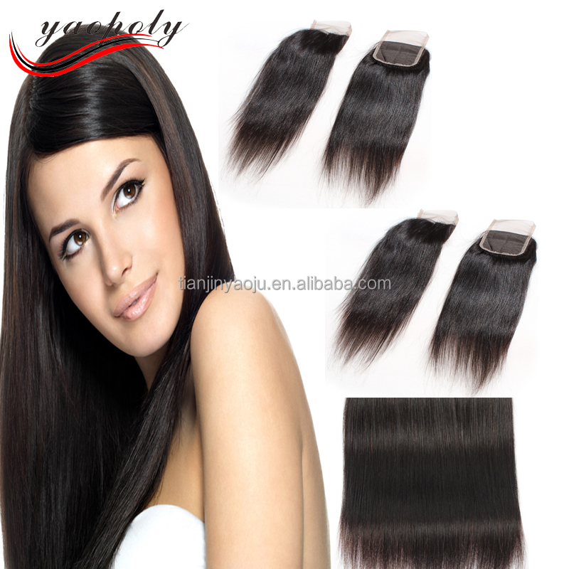 Brazilian hair closure Free Parting Swiss Lace Frontal Virgin Hair Bundles with Lace Closure for Night Clup and Parting
