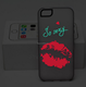 Glow in the dark lips cell phone accessory TPU+PC cover case For iphone 6 6s