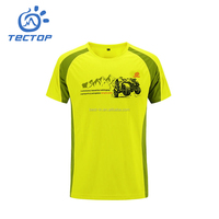 Mens O-neck Short-Sleeved Quick Dry Breathable Eco-Friendly Printing T-shirt