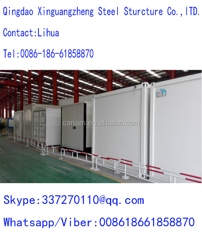 Steel structure container living house with toilet and shower