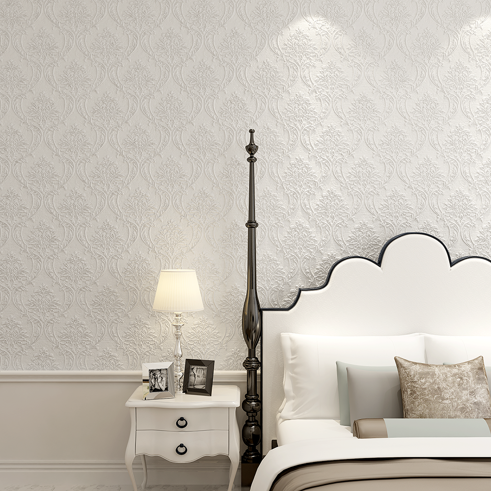 Modern living room textured grey wallpaper