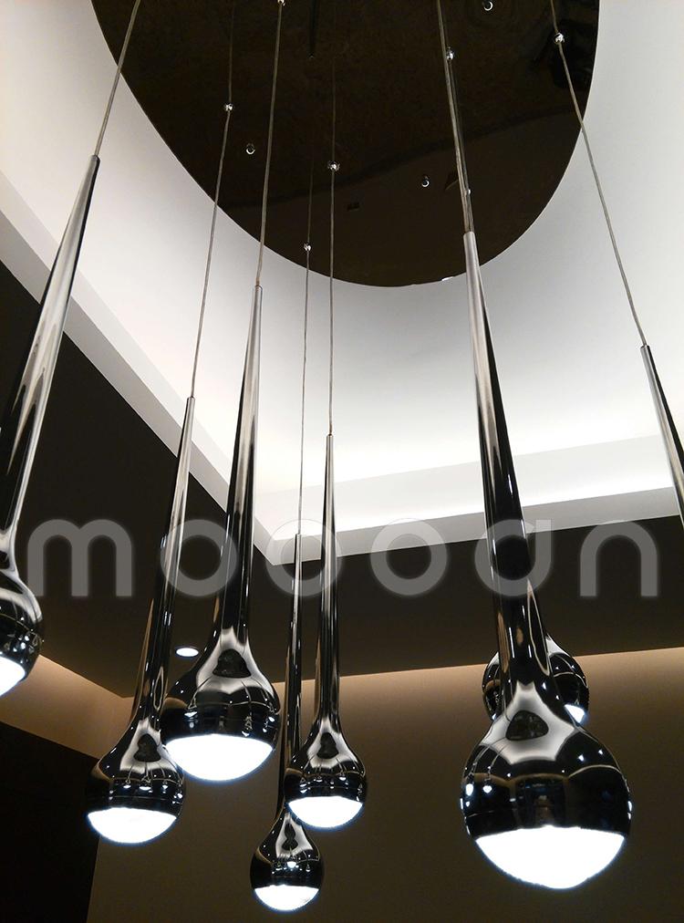 Modern Design Decorative Black Meteor Shower Metal Water Drop ...