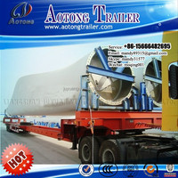 China manufacturer heavy duty wind power equipment transport semi trailer