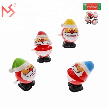 Christmas gift plastic Santa Claus tin wind up toys for kids