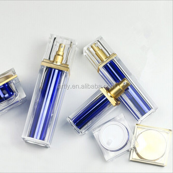 luxury square acrylic thick wall plastic airless pump bottles and cream jar  30ml 50ml 100ml wholesale 6a0b877c3925