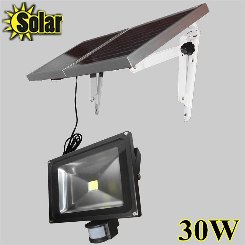 Hot Sale 30W Solar Power LED Flood Lamp Motion Sensor