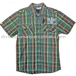 YARN DYED WOVEN MENS SHIRT