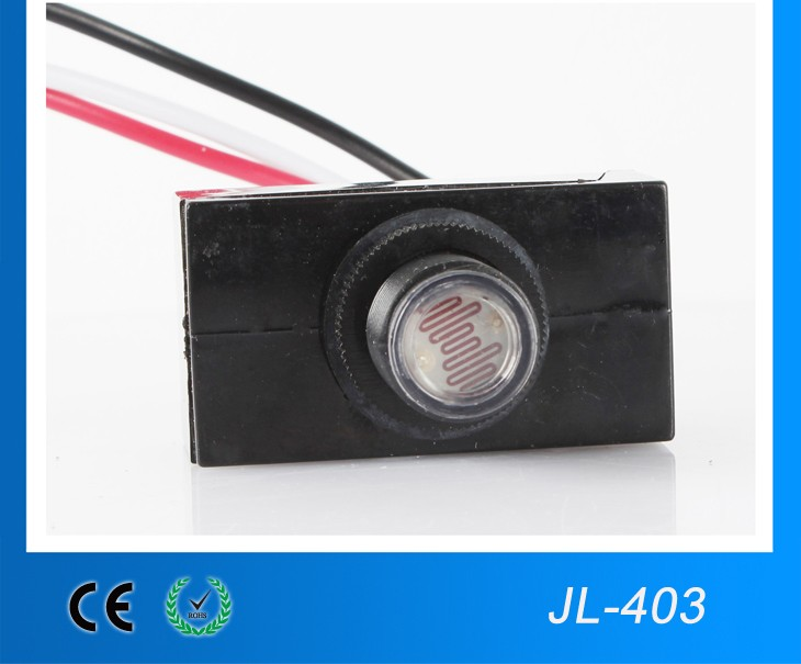 Street light photocell sensor, control unit