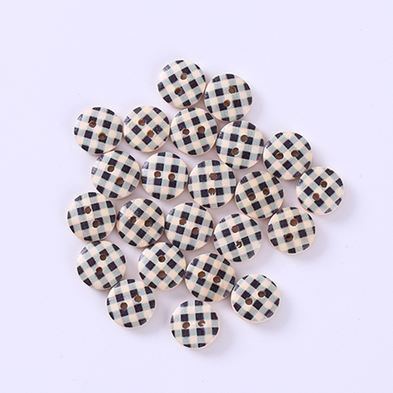 Cooperative 50pcs Christmas Holiday Wooden Collection Snowflakes Buttons Snowflakes Embellishments 18mm Creative Decoration Pretty And Colorful Home & Garden