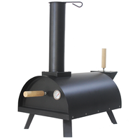 Outdoor Wood Fired Pizza Oven Portable Pellet Pizza Oven With Insulation Ceramic Cotton Compact