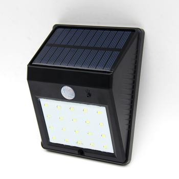 Promotional 20 Led Solar Motion Sensor Light Outdoor Lighting Garden Wall Mounted