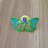 Soft enamel butterfly shape metal pin badge with glue clutch