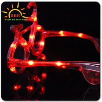 2016 new fashion Bicycle shapedsunglasses wiht led lights LED Light Up flashing Party Sunglasses