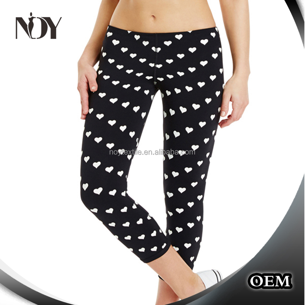 WARP certificate ethical dotted women workout leggings yoga ladies fitness tights