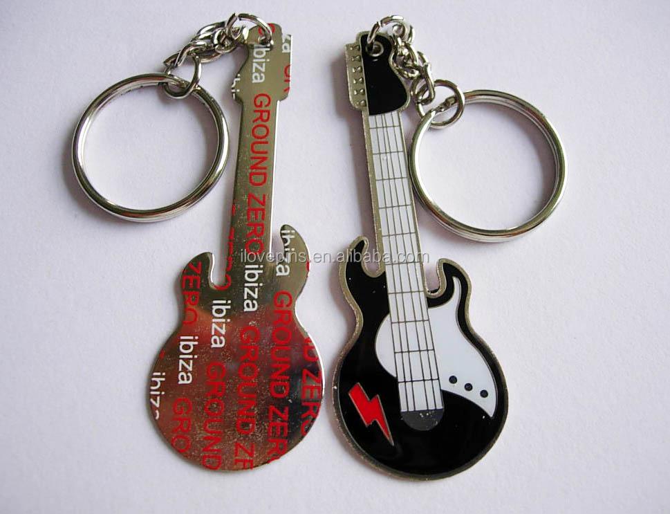 Guitar Shaped Metal Key Chain 8d0c09f72