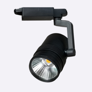 Xuanbon Fan Cooling Black Track Light COB Spotlight Three Styles 40w Track Light Big Spotlight Led Track Light 2 Phase 3 Phase
