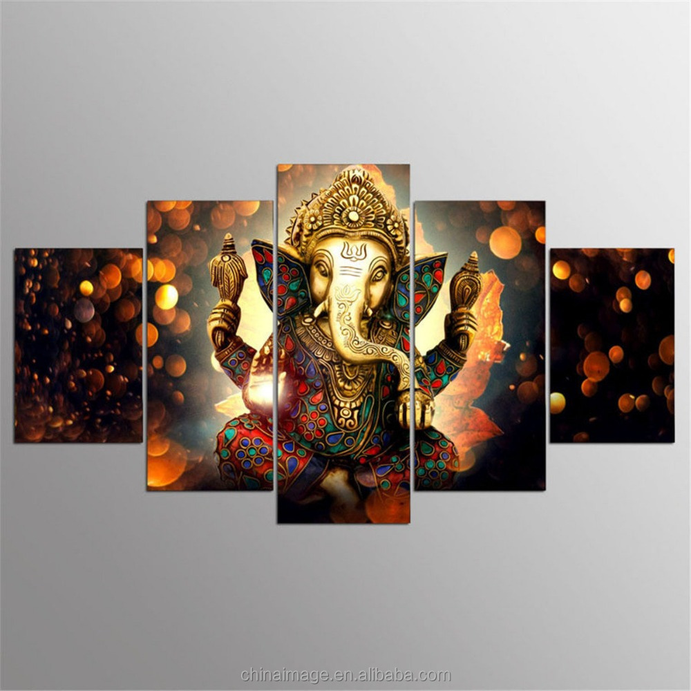 Mode Ganesha Schilderen Abstract Print Moderne Canvas Art Wall Poster Home Decor