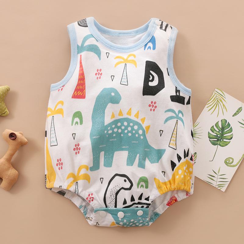797b6b25 ¡Ropa de bebé recién nacido bebé mameluco de verano sin mangas 100% algodón  mameluco lindo Animal venta al por menor y venta al por mayor!