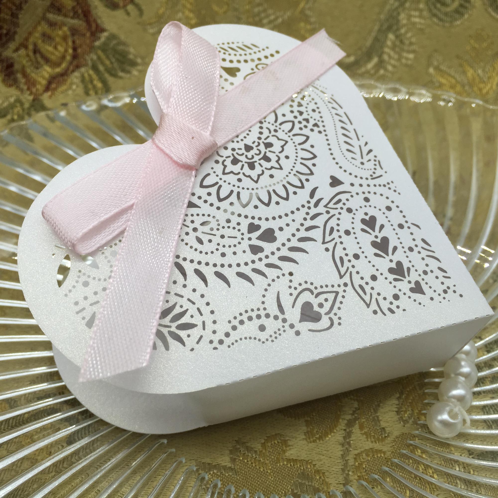 Chinese Supplier Laser Cut Wedding Candy Box Bonbonniere Paper Box ...